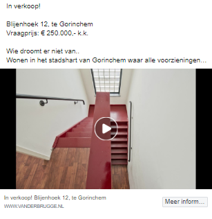 video facebook advertentie makelaar
