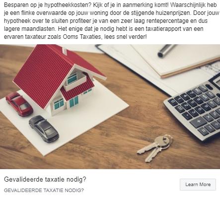 waarde facebook advertentie makelaar